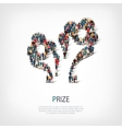 prize people sign 3d vector image vector image