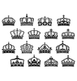 Royal or imperial crowns set vector image vector image