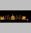 san jose light streak skyline vector image vector image