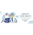 sanitation equipment sale banner vector image vector image