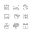 set line icons house systems vector image vector image