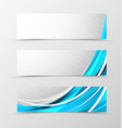 Set of header banner futuristic design vector image vector image