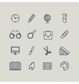 Set of line icons Back to school School supplies vector image vector image
