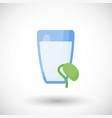 soy milk flat icon vector image vector image