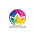 spa logo lotus wellness salon logo vector image vector image