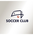 Template logo Football Soccer Club vector image