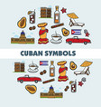 travel to cuba promo poster with national symbols vector image vector image