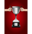 Trophy winners background vector image