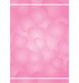 valentine background with pink hearts vector image vector image