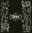 vertical seamless borders of beer icons on black vector image vector image