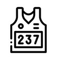 vest with personal athlete number icon vector image vector image