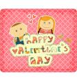 vintage design valentines day card vector image vector image