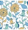 whimsical flower garden seamless pattern vector image vector image