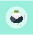 wrapped onigiri japanese rice ball edible algae vector image vector image