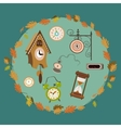 clocks collection vector image