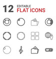 3d icons vector image vector image