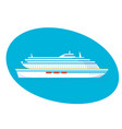 a large multi-storey cruise passenger liner vector image