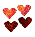 Abstract broken heart symbol red hot love passion