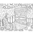 adult coloring bookpage a cute christmas boot on vector image vector image