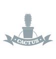 arizona cactus logo simple gray style vector image