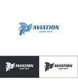 aviation logo design six vector image vector image