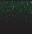 binary code green and dark background with vector image vector image