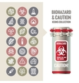 Biohazard and Caution Icons Collection vector image vector image