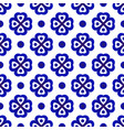 blue and white flower pattern vector image