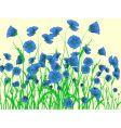 blue poppy vector image vector image