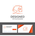 business logo template for business hand money vector image