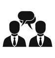 businessman conversation icon simple style vector image vector image