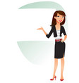 businesswoman funny cartoon character vector image