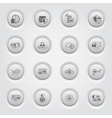 Button Design Protection and Security Icons Set vector image