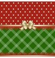 Christmas background fabric vector image vector image