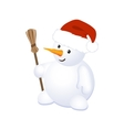 Christmas Cheerful Snowman vector image