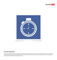 clock icon - blue photo frame vector image