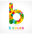 colored b logo vector image vector image