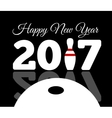 congratulations to the happy new 2017 year vector image vector image