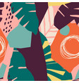 contemporary hawaiian seamless pattern with floral vector image vector image
