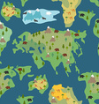 Continents seamless pattern World map is endless vector image vector image