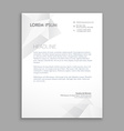 creative modern low poly letterhead vector image vector image