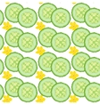 Cucumber seamless vector image vector image