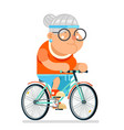 cycling fitness granny adult healthy activitie vector image