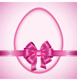 Easter egg with pink ribbon vector image vector image