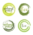 Eco set with circle frames design elements vector image vector image