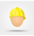 electrical safety helmet vector image vector image