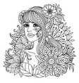 fairy girl vector image vector image