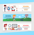 flat education horizontal banners vector image vector image