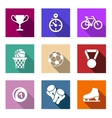 Flat sporting web icons vector image