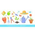 gardening equipment set vector image